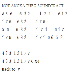 Not Angka Pianika Pubg Soundtrack